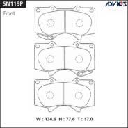 Колодки тормозные дисковые Advics SN119P Япония