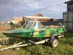 """Лодка """"Обь"""", мотор Yamaha 30, прицеп."""