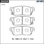 Колодки тормозные дисковые Advics SN593P Япония