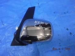 Зеркало заднего вида боковое левое Toyota Estima ACR30W хромированная накладкка 5 контактов