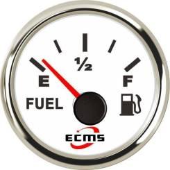 Указатель уровня топлива ECMS 0-190 Ом (нерж/бел)