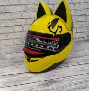 Мото шлем Кошка , Отправка по России , Размер-М