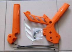 Защита рамы Polisport KTM SX/SX-F 11-15/XCF-W/XC-W/EXC 12-16 оранжевый 8466500002