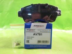 Колодки тормозные дисковые передние Avantech (противоскрипная пластина в компл.) (F) TOYOTA CHASER / CRESTA / MARK II X90 (92-96), CHASER / CRESTA / M...