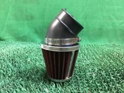 Фильтр возд. нулевик (d=42mm) с загибом 45 градусов мотоцикл [00000005222]