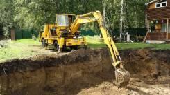 Услуги экскаватора: септик под ключ, траншеи, погреба, канализации, ке