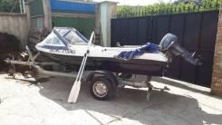 Лодка Лакер 410 с мотором и лафетом