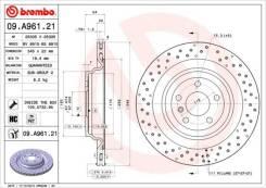 Диск тормозной задний Brembo,09A96121