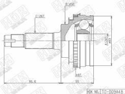 Шрус наружный Toyota Carina / Caldina / Camry SV30 / 40 / Carib