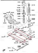 Рычаг поперечный. Mazda Premacy, CP, CP8W, CPEW, CP19S, CP19P, CP19R, CP19F Mazda Familia, BJ3P, BJ5P, BJ5W, BJ8W, BJEP, BJFP, BJFW, YR46U15, YR46U35...