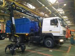 МАЗ 6312. Ломовоз МАЗ-6312 с манипулятором Майман-110S кузов 30 куб. Евро-5, 10 000кг., 6x4