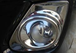 Хром накладки на притивотуманные фары Toyota Corolla 150 2010-2012 год. Toyota Corolla, ADE150, AZE141, NDE150, NRE150, ZRE151, ZZE150, ZRE142 1ADFTV...