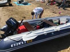 Лодка solar 380 с мотором Suzuki 15