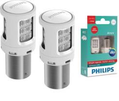 Комплект светодиодных ламп Philips P21/5W красные, стоп сигнал