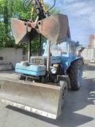 МТЗ 80. Трактор с грейферной установкой, 80 л.с.