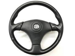 Оригинальный спортивный руль черная кожа Toyota