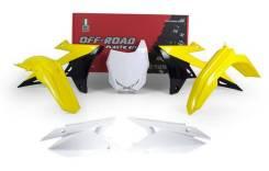 Комплект пластика R-Tech Suzuki RMZ450 2018 желтый/белый/черный R-KITRMZ-OEM-518
