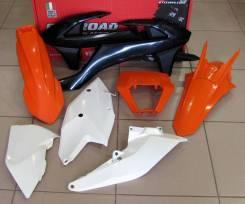 Комплект пластика R-Tech KTM CX-W/EXC-EXCF125-500 17-18 оранжево-черно-белый R-KITKTM-OEM-517