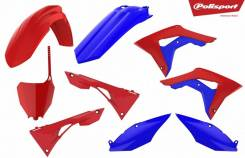Комплект пластика Polisport Honda CRF450R 17-19/CRF250R 18-19 красно-синий 90791
