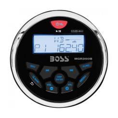 Магнитола морская USB/AUX/FM, BOSS, MGR350B, влагозащитная, 240 Вт