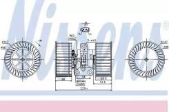 Вентилятор отопителя салона BMW 5-SERIES E39 95- RANGE ROVER III (LM) (02-) 4.2 NISSENS 87114