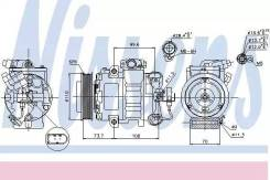 Компрессор кондиционера VAG A2/OCTAVIA 00- (доставка 2-3 часа) NISSENS [89026]