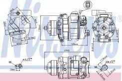 Компрессор кондиционера (доставка 2-3 часа) NISSENS [89418]