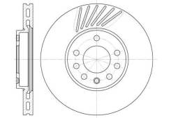 Диск тормозной Vectra B Saab 9-3 9-5 (доставка 2-3 часа) Roadhouse [649410]