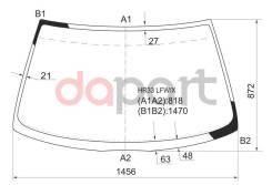 Стекло лобовое в клей Nissan Ниссан Skyline Скайлайн 93-98 4d XYG HR33LFW/X, переднее