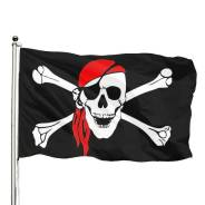 Флаг веселый Роджер, размер 150*90