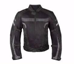 [RUSH] Мотокуртка MESH (текстиль) черный/серый