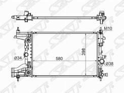 Радиатор Chevrolet Cruze / Orlando 1.8 09- / OPEL Astra J 1.6 09- / ZA