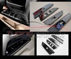 Накладки на стеклоподъемники Land Cruiser 200 нержавейка, темный хром