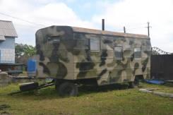Примлоглифт Приморец. Строительный полевой вагон бытовка на колесах (рама) 7000*2500