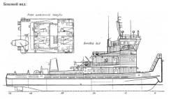 В Красноярске! судно «РТ-729» - самоходное, теплоход буксир