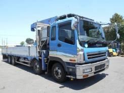 Isuzu Giga. бортовой грузовик с манипулятором, 14 000куб. см., 15 000кг., 8x4. Под заказ