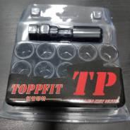 Черные гайки Topfit 12*1.5 внутренний шестигранник 16шт +ключ