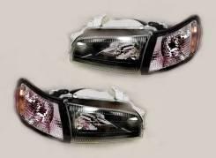 Комплект Фары +габариты Чёрн Хруст Toyota Corona 190 Caldina Carina-E