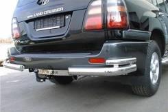 Защита зад. бампера Toyota LAND Cruiser 100 (1998-) уголки двойные
