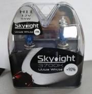 Комплект ламп галогенных Skylight H11 12V 55W +90%, 4000K H11 12V 55W +90%