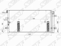 Радиатор кондиционера AUDI A4 07-  A4 Allroad 09-  A5 07-  A6 11