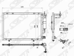 Радиатор кондиционера FORD Fiesta 09-