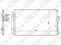Радиатор кондиционера Hyundai Santa FE 13-