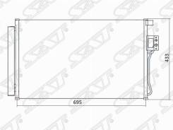 Радиатор кондиционера Hyundai Santa FE 06-