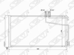 Радиатор кондиционера Mercedes C-Class W203 00-/CLK-Class W209 02-/SLK