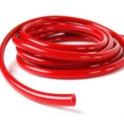 Шланг силиконовый красный 4мм