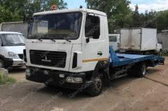 МАЗ 4371. Автоэвакуатор МАЗ-4371 ломаная платформа (5760 мм. ), 4х2, 4 750куб. см., 4 350кг., 4x2