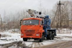 КамАЗ 65115. Автовышка Камаз–65115, телескопическая с гуськом, 32 м. (ВИПО-32-01), 6 700куб. см.