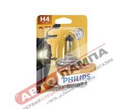 Галогенная лампа Philips H4 12V 60/55W Vision Moto +30% P43t-38 12342PRBW