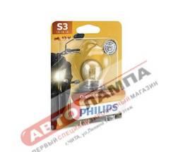 Галогенная лампа Philips S3 12V 15W Vision Moto +30% P26s 12008BW
